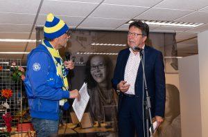Ritsko vanVliet als Cambuur supporter bij afscheid directeur WELLZO