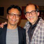 Tjeerd van der Zwan, burgemeester van Heerenveen, te gast bij de première van mijn theatervoorstelling 'In naam van de vader'