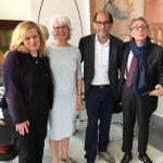 Heb veel samengewerkt met Università Suor Orsola Benincasa. Hier een ontmoeting met manager internationale contacten Francesca Russo, oud-collega Vera Gaikhorst en rector Lucio d'Alessandro